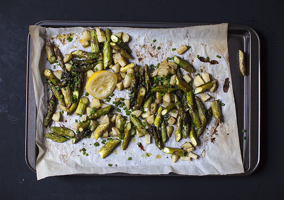 Jerusalem artichoke and asparagus salad for Victoria Day weekend