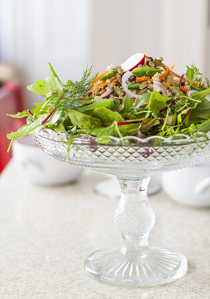 carrot quinoa salad - mother's day - bitebymichelle.com