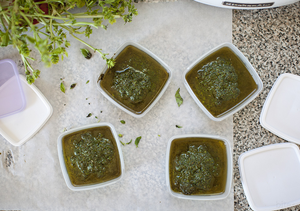 basil puree keeps way better than pesto l bitebymichelle.com
