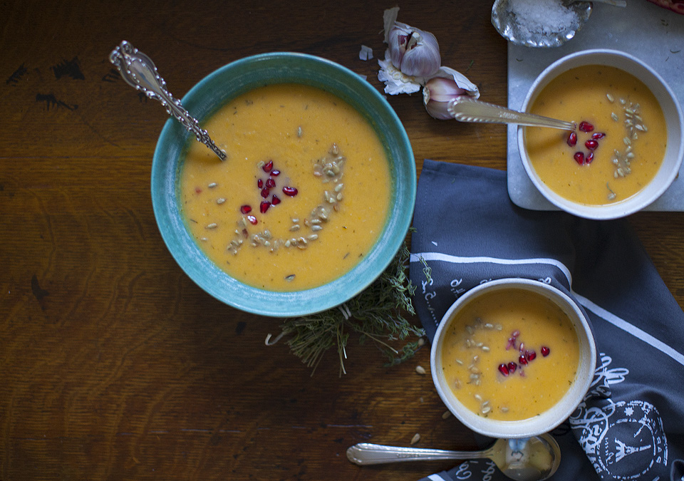 butternut squash and hard cider soup