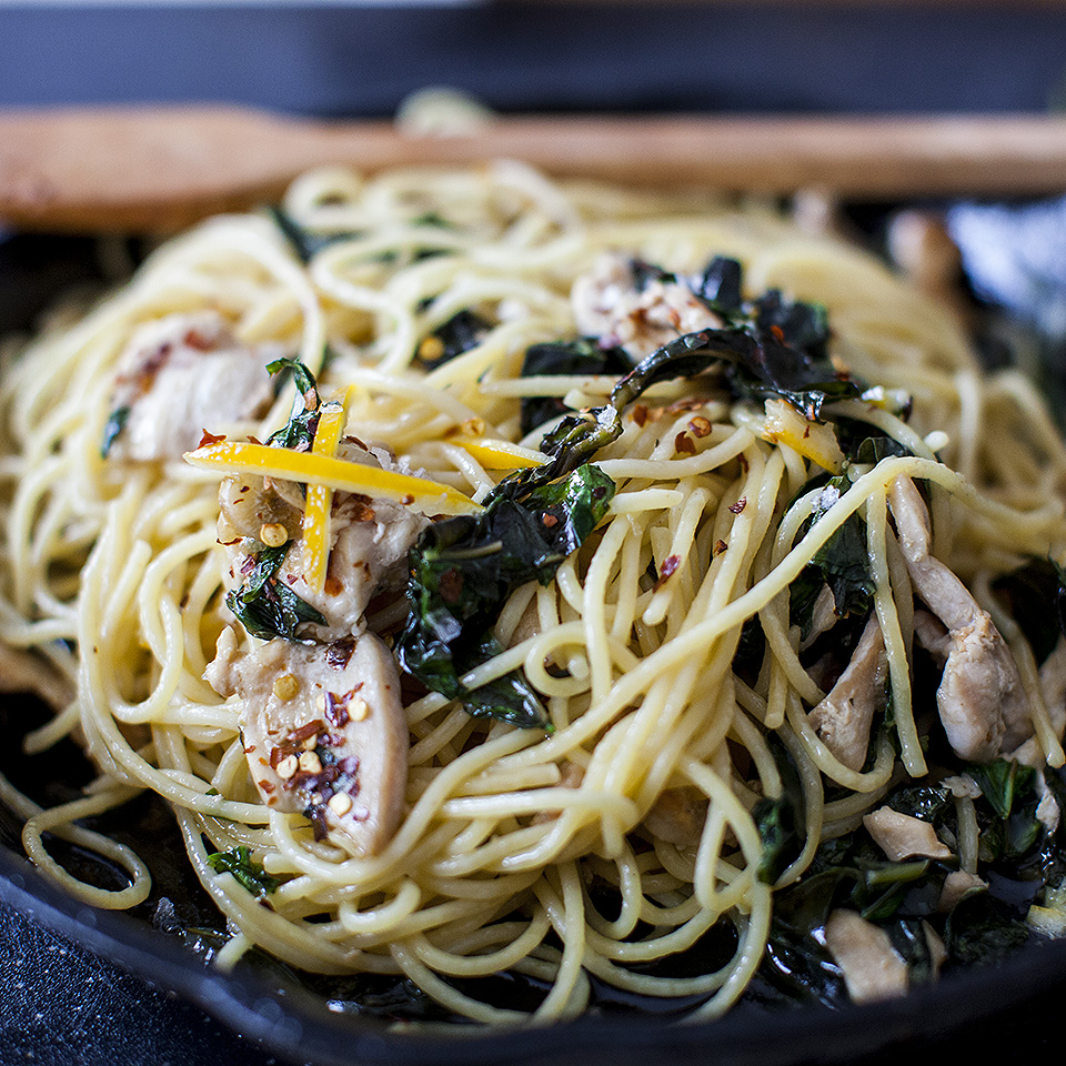 preserved lemon, basil and chicken pasta - bitebymichelle.com