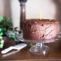 VANILLA LAYER CAKE WITH CHOCOLATE FROSTING - bitebymichelle.com