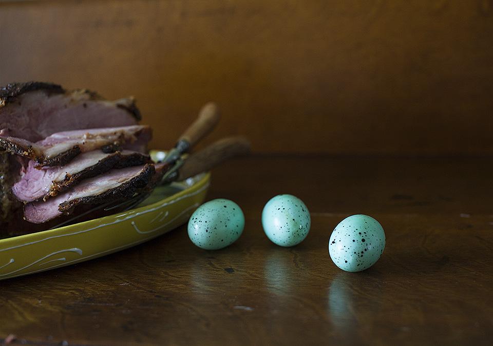 Easter ham - dulce de leche and pear cider glazed l bitebymichelle.com