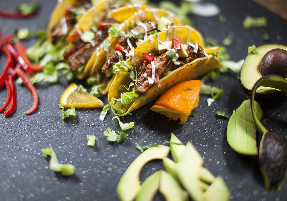 brisket - mexican braised tacos l bitebymichelle.com
