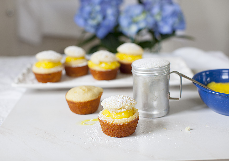 vanilla cupcakes with lemon filling - secret family recipe l bitebymichelle.com