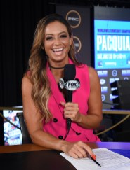 LAS VEGAS - JULY 17: Fox Sports' Kate Abdo at the final press conference for the PBC on Fox Sports Pay-Per-View at the MGM Grand on July 17, 2019 in Las Vegas, Nevada. (Photo by Frank Micelotta/Fox Sports/PictureGroup)