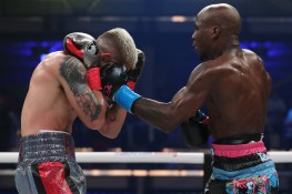 January 30, 2020; Miami, FL, USA; IBF super featherweight champion Tevin Farmer and Joseph Diaz during their January 30th Matchroom Boxing USA bout at The Meridian. Mandatory Credit: Ed Mulholland/Matchroom Boxing USA