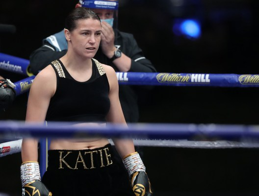 HANDOUT PICTURE COMPLIMENTS OF MATCHROOM BOXING Katie Taylor vs Delfine Persoon, undisputed Lightweight Title Contest. 22 August 2020 Picture By Mark Robinson