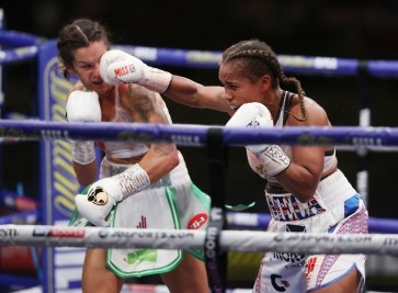 HANDOUT PICTURE COMPLIMENTS OF MATCHROOM BOXING Matchroom Boxing Fight Camp 2 Fight Night 7 August 2020 Picture By Mark Robinson Terri Harper vs Natasha Jonas, WBC and IBO World Super Featherweight Title.