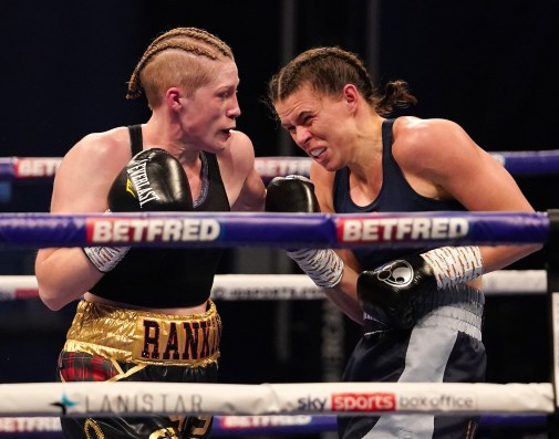 HANDOUT PICTURE COMPLIMENTS OF MATCHROOM BOXING Savannah Marshall vs Hannah Rankin, Vacant WBO Middleweight World Title Title. 31 October 2020 Picture By Dave Thompson