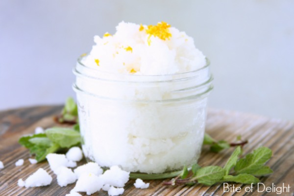 Need a cheap, awesome scrub? This is it! Orange Mint Sugar Scrub is easy, fast & smells delicious!