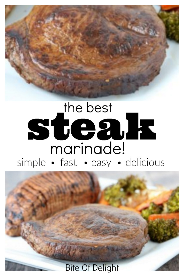 This is the Best Steak Marinade recipe! Made with balsamic vinegar, fresh lemon juice, lots of garlic, plus a few more things. Such delicious flavor!