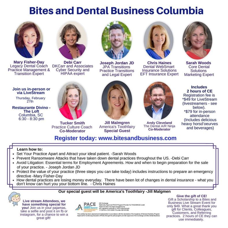 Bites and Business Columbia Poster