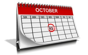 Pic of calendar for the month of October
