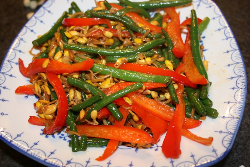 Tri-color vegetable stir fry
