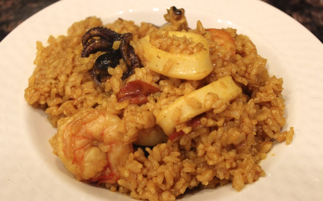 Seafood rice recipe