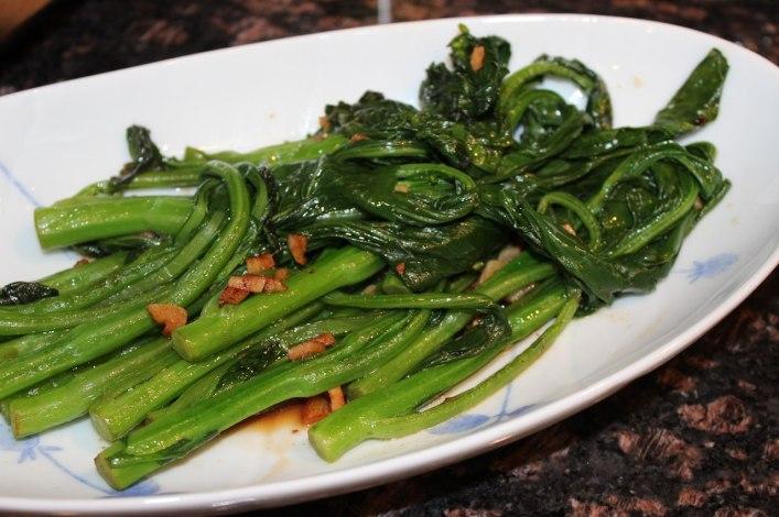 Stir fry Chinese broccoli gai lan. biteslife.com