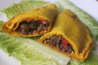 Jamaican style patties filled with ground beef and vegetables.