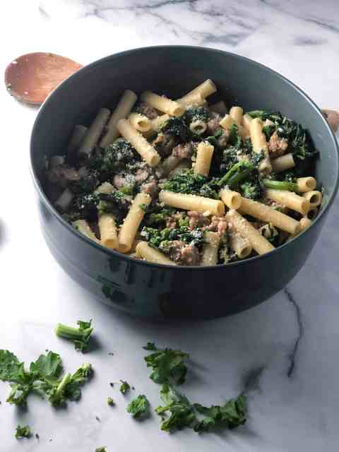 ziti with sausage and broccoli rabe