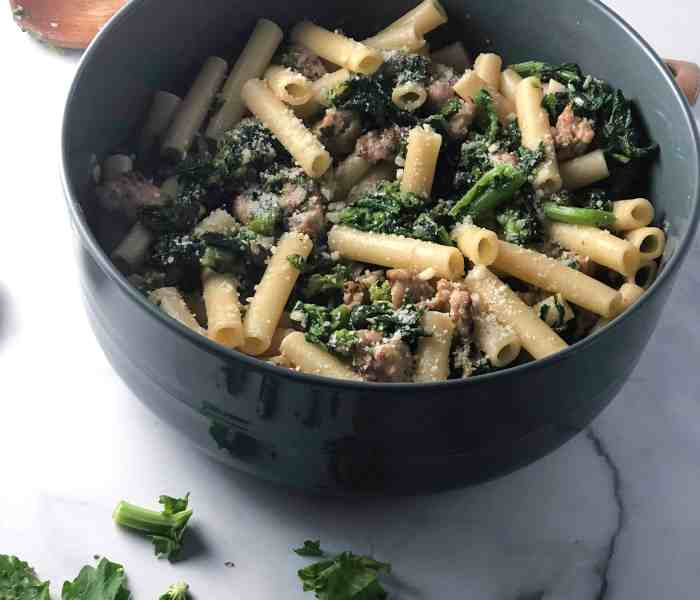 Ziti with Sausage & Broccoli Rabe