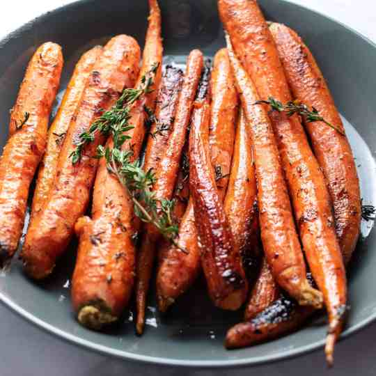 Brown Butter & Thyme Roasted Carrots