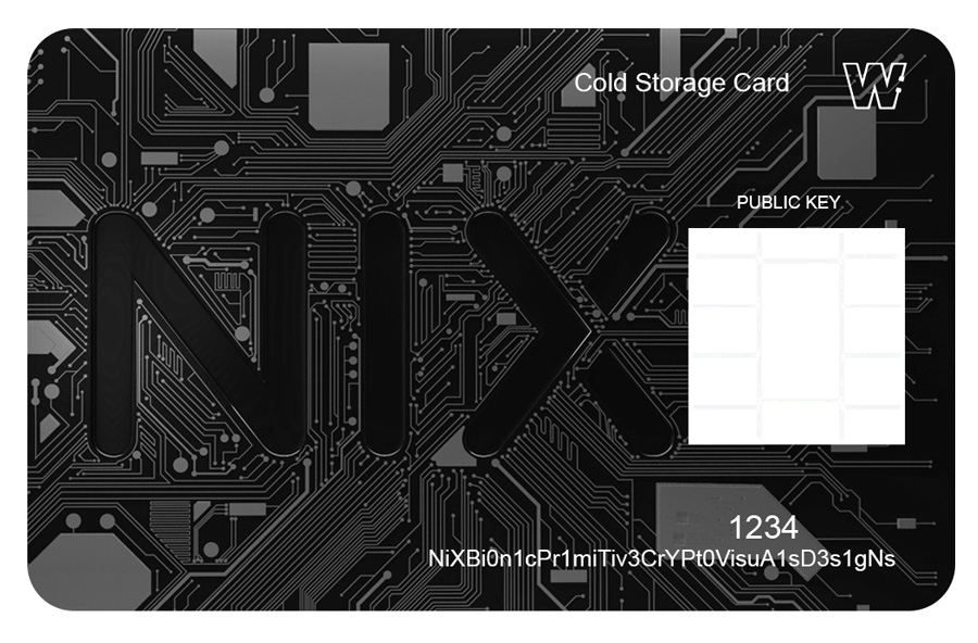 Bitgraphix-Nix-Platform-Cold-Storage-Card-Sketch-black-logo-with-grey-circuit-lines