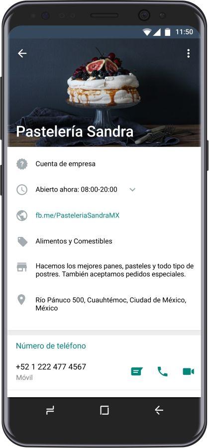 Captura de Whatsapp Business