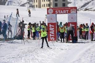 320 kayakçının katıldığı kayaklı koşu yarışları sona erdi