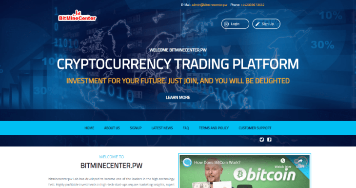 Bitminecenter.pw Review