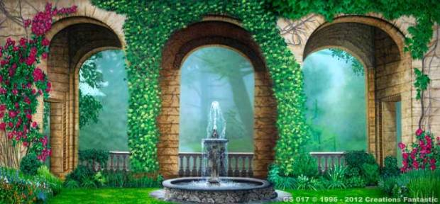 GS-017-Courtyard-Garden Backdrops Beautiful