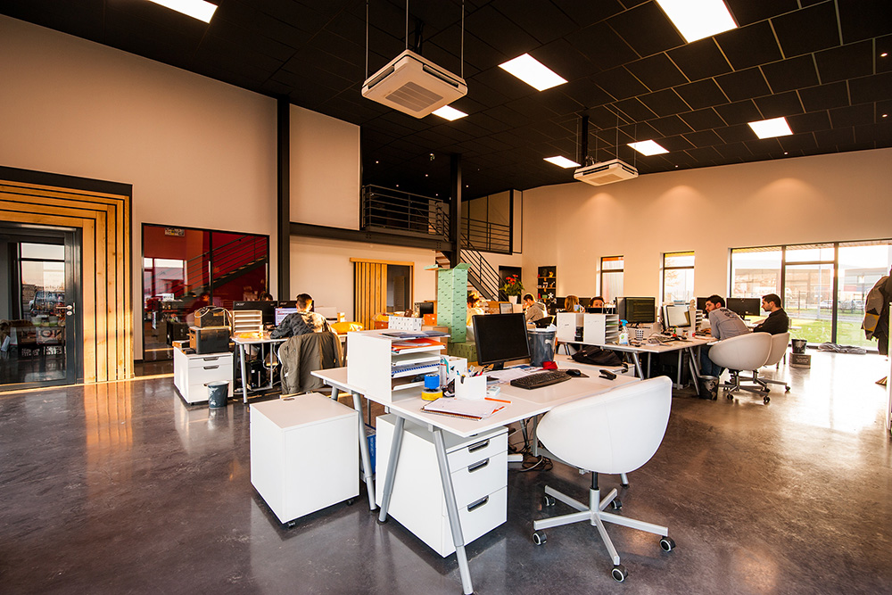 open office with desks