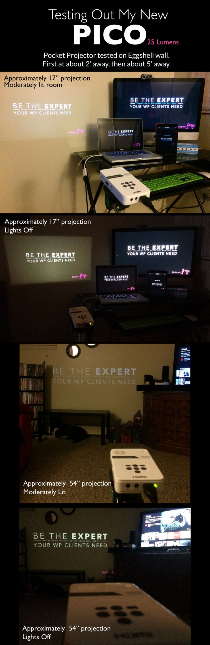 bitofgrace: PICO projector testing