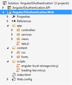 AngularJS Token Authentication using ASP.NET Web API 2, Owin, and Identity (2/5)