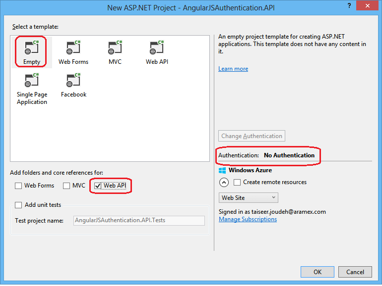 Token Based Authentication using ASP.NET Web API 2, Owin, and Identity (2/4)