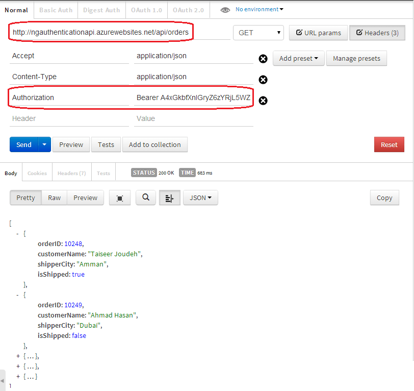 Token Based Authentication using ASP.NET Web API 2, Owin, and Identity (4/4)
