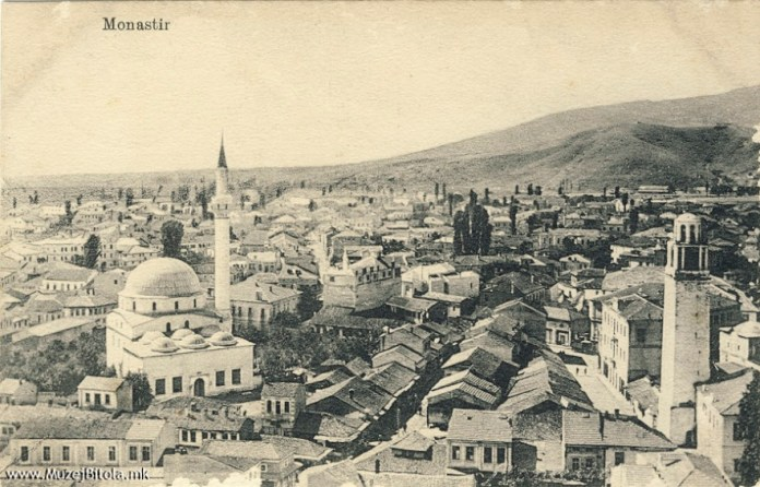 Yeni Mosque with Clock Tower and Pekmez Bazaar during the First World War