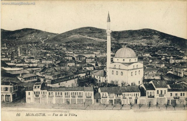 Panorama of Bitola with Isak Mosque 1916