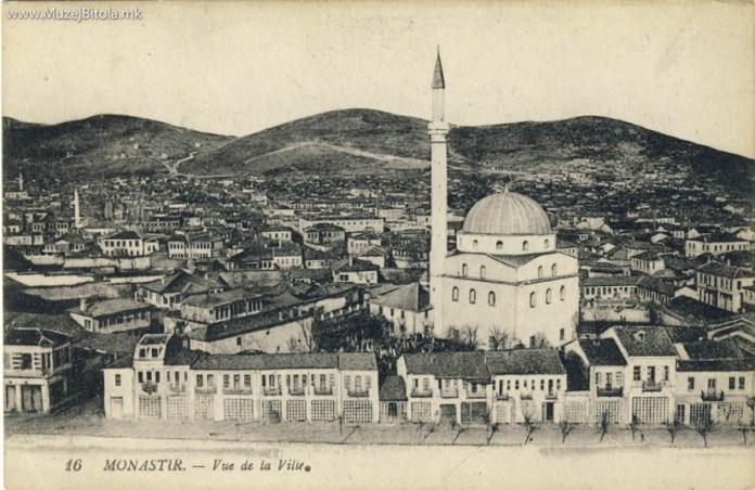 Panorama of Bitola with Isak Mosque 1916