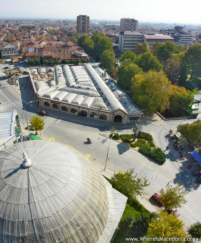 Bezisten Bitola - view from Isak Mosque