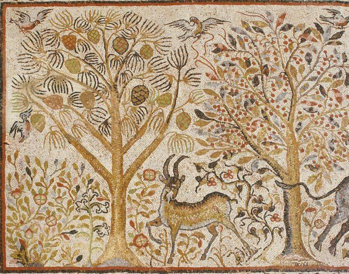 Mosaic Nartex - Large basilica - Heraclea Lyncestis - detail