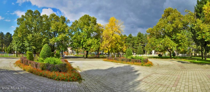 bitola city park panorama