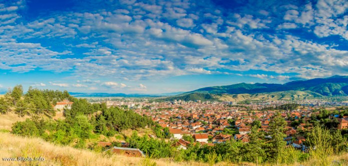 Bitola panorama from north toward south