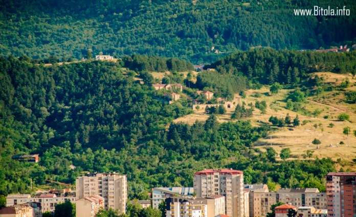 Panorama of Bitola with the Dzepane - old Turkish armory
