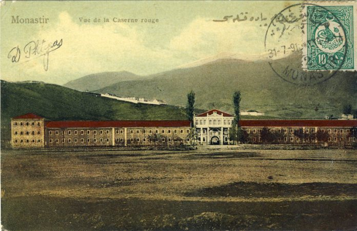 The Red Army barack with Dzepane in the background - Bitola ~ 1908