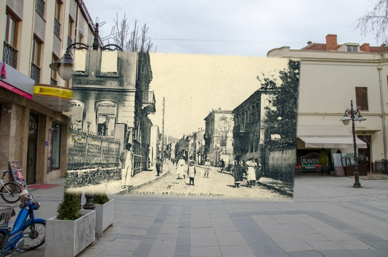 Улица Широк Сокак (пред Стопанска банка) - некогаш и денес