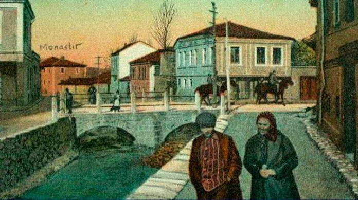 Реката Курдерес - Битола, фотографирано на почетокот на 20 век