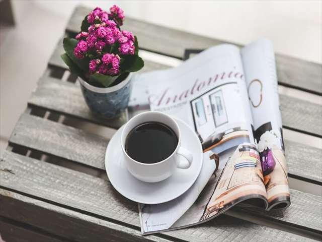 休日の部屋でコーヒー
