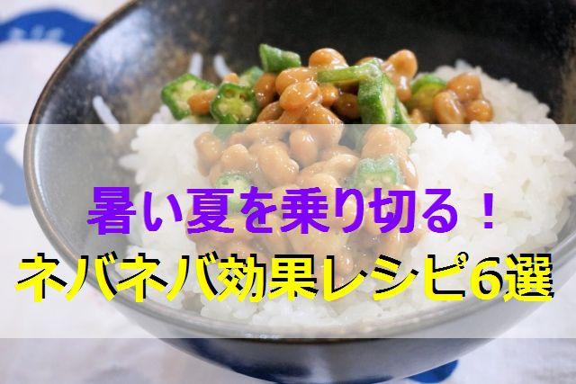 ネバネバ効果レシピ