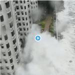 香港 台風22号 映像・動画 台風情報 シグナル10 映像 動画 現在