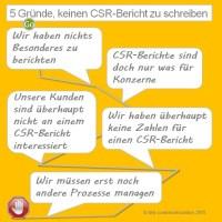 5 Gründe, keinen CSR Bericht zu schreiben